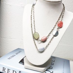 LOFT • Pastel Stone and Silver Necklace
